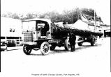 Charles Fox and Sons log truck in Port Angeles