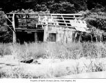 Abandoned building, probably an Ozette building in Clallam County