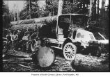 Kelly-Springfield truck with crew, probably on the Olympic Peninsula