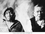 Native American man and woman, probably in Port Hadlock