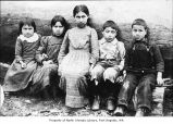 Makah children, probably on the Olympic Peninsula