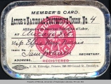 Actor's National Protective Union member's card belonging to Effie Norris, n.d.