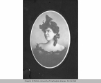 Unidentified woman with ribbons in hair, n.d.