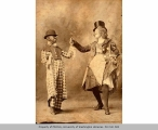 Effie Norris and Howard Shipman (in blackface) in a vaudeville performance, n.d.
