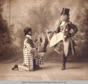 Effie Norris and Howard Shipman (in blackface) in a vaudeville production, n.d.