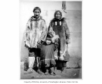 Eskimo man, woman and child, A-Pa-Look and family, Cape Douglas, 1905