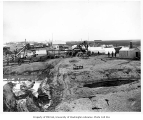 Steam shovel mining operation, possibly Nome beach, ca. 1904