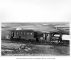 Council City and Solomon River Railroad passenger train at Dickson, October 1, 1905