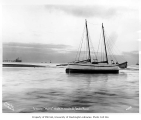 Schooner NOME aground at the mouth of Snake River, Alaska, ca. 1904