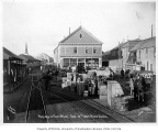 Nome wharf showing the Alaska Mercantile Co. building, September 19, 1905