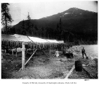 Fish-drying racks on the shores of an unidentified lake, ca. 1905