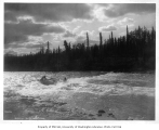 People in canoes in Whitehorse Rapids, Yukon River, n.d.