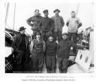 Captain Roald Amundsen and crew aboard the GJOA, Nome, September 1, 1906