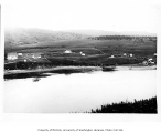 Unidentified settlement along river, possibly Alaska,  n.d.