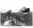 Hydraulic mining operation on Nome Beach, September 23, 1904