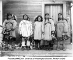 Eskimo women with infants, Cape Prince of Wales, ca. 1904