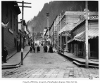 Seward Street showing the Great Western Chop House to the right, Juneau, n.d.