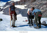 Researchers during an ice crystal study, Olympic National Park, date unknown