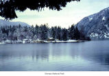 Barnes Point on Lake Crescent seen after snow, Olympic National Park, date unknown