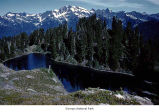 Lake Beauty on High Divide and Mount Olympus, Olympic National Park, date unknown