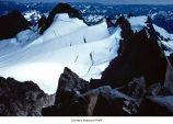 Blue Glacier and Mount Olympus seen from Mount Olympus Middle Peak, Olympic National Park, date...