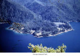 Barnes Point on Lake Crescent seen from Pyramid Mountain, Olympic National Park, date unknown