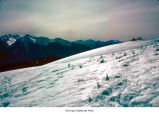 Hurricane Ridge showing Big Meadow and the Visitors Center after a snow, Olympic National Park,...