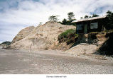 Beach erosion on the Washington coast at the Quinault Reservation, 1989