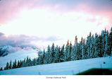 Hurricane Ridge sunset, probably during winter in Olympic National Park, date unknown