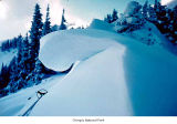 Snow cornice on Hurricane Ridge, Olympic National Park, date unknown