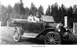 Women in a car, possibly on the Olympic Peninsula, date unknown