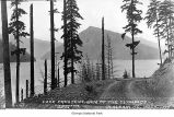 Lake Crescent and surroundings viewed from the road, Clallam County, date unknown