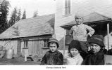 Marshall and Morse children, probably on the Olympic Peninsula, 1915