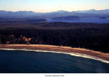 Ozette Lake and Olympic National Park coastline seen from the air, 1993