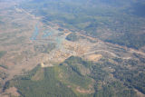 Aerial photo of SR 530 slide, higher altitude