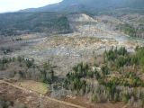 Aerial DNR photo of SR 530 slide from south March 23