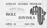 Soyinka, Wole, AFSTU and Public Lecture, April 1973