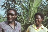 Kofi Awoonor and daughter Sika, February, 1979