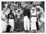 Man and women in costume, Albania, circa 1930-1937