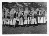 Bride's announcement party, between Čučer and Sandevo, Macedonia (Southern Serbia, former...