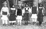 Boys and girls in costume, Skopska Crna Gora region, Macedonia (Southern Serbia, former...