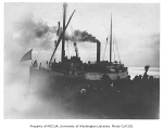 Steamer ROBERT DOLLAR and crew departing for Nome, Seattle, ca. 1900