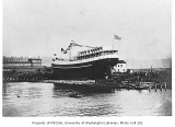Launch of the W.H. SEWARD at the Moran Brothers Shipyard,  Seattle, April 16, 1900