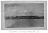 Seattle waterfront north from King St. from Elliott Bay, ca. 1884