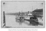 Seattle waterfront with steamers W.F. MUNROE and NELLIE at dock, n.d.