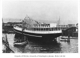 Launch of the W.H. SEWARD at Moran Brothers Shipyard, Seattle, April 16, 1900