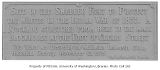 Memorial tablet for the blockhouse fort at Main and Occidental used during the Indian War of 1855,...