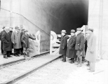 C. O. Jenks and W. E. Conroy open the Cascade Tunnel, January 12, 1929