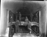 Workers removing concrete forms in the tunnel, Berne, January 1, 1929