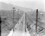 Main line of the Great Northern Railway east of the east switch, Leavenworth, ca. 1929